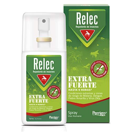 🥇 Relec Extra Fuerte Spray Antimosquitos | Repelente de Mosquitos Eficaz contra el mosquito tigre | Desarrollado para evitar las picaduras de mosquitos en severas condiciones climáticas | 75ml