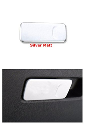FMtoppeak Silver ABS Inner Chrome Kit Passenger Side Front Storage Box Button Trim For 2014 UP Jeep Renegade
