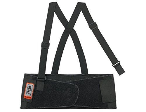 Ergodyne ProFlex 1650 Economy Elastic Back Support Belt, Medium, Black (Renewed)