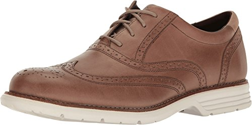 Rockport Men's Total Motion Fusion Wing Tip Rocksand Leather 10 W US
