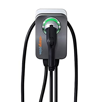 Image of ChargePoint Home Flex Electric Vehicle (EV) Charger upto 50 Amp, 240V, Level 2 WiFi Enabled EVSE, UL Listed, Energy Star, NEMA 6-50 Plug or Hardwired, Indoor/Outdoor, 23-Foot Cable Charging Stations