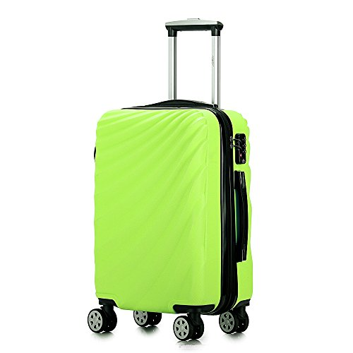 Green Luggage (Carry on Luggage Lightweight Expandable Spinner Suitcase)