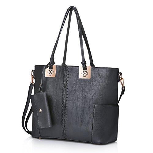 Women Purses Handbags Hobo Bags Shoulder Tote Bags Top Handle PU Leather Women Bags by oteawe