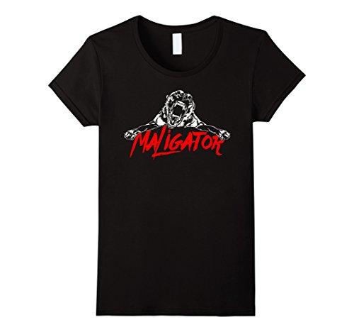 Womens Maligator Belgian Malinois Hund fun TEE Shirt T-Shirt gift XL Black