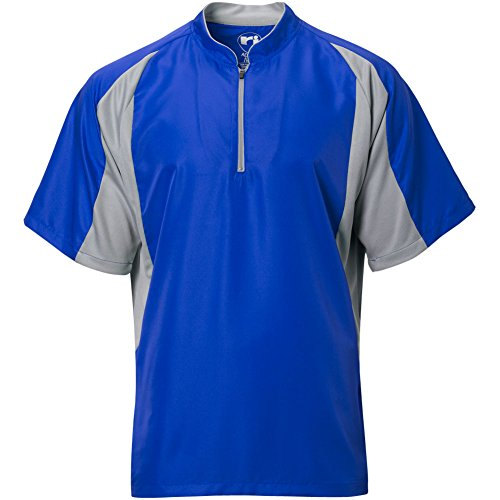- Wire2wire Mens Performance Short Sleeve Cage Jacket Royal/Grey XL