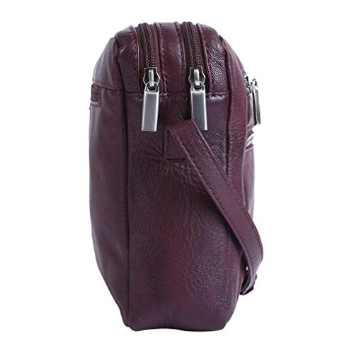 RFID Leather Shoulder Handmade Women nbsp;with Soft Bordo Handbags Handbags Protection Bags Tote qYxTzEx