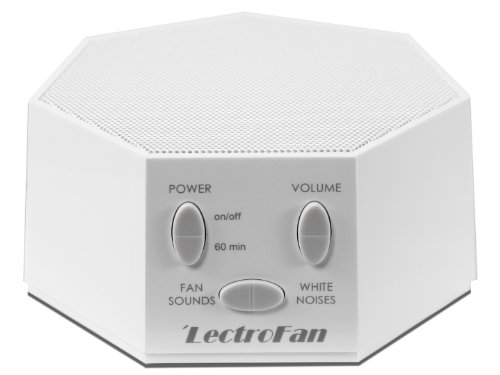 LectroFan - White Noise Machine with 10 Fan and 10 White Noise Options (White)