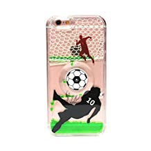 iPhone 6s plus case,iphone 6 plus case, liujie Liquid Cool Quicksand Moving Stars Bling Glitter Floating Dynamic Flowing Case Liquid Cover for Iphone 6s plus 5.5inch (SL football green)