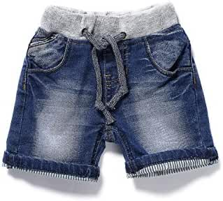 Little-Guest Baby Boys' Clothes Blue Knee-Length Jeans Shorts B201
