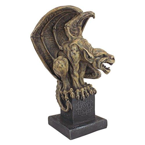 (Design Toscano Abbadon Gargoyle Gothic Statue, 12 Inch, Polyresin, Two Tone)