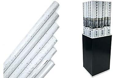 Clairefontaine 211825c Une Rouleau Papier Cadeau Premium Blanc 2mx70 Cm 80g Motif Aléatoire
