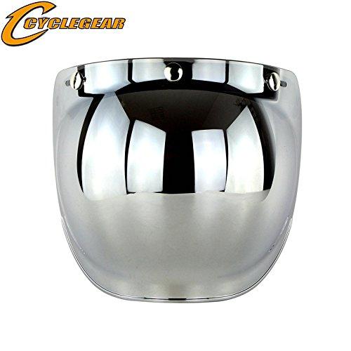 Ocamo Retro 3-snap Sunscreen Sun Shield Visor Bubble Mirro for Motorcycle...