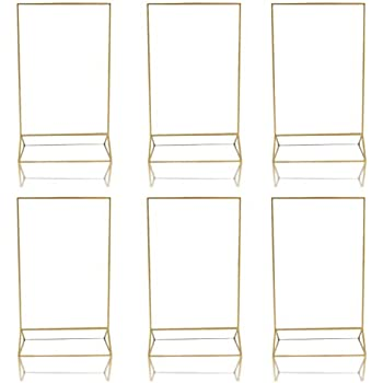 Amazoncom Gold Acrylic Frame Picture Table Holder Ideal For