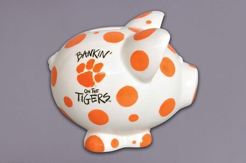 Ceramic Collegiate Piggy Bank Clemson Tigers by Magnolia Lane (Clemson Tigers Piggy Bank)