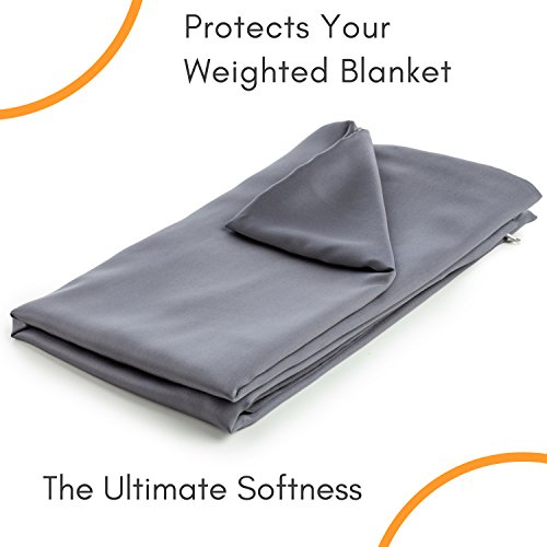 Snuggle Pro Premium Cool Bamboo Duvet Cover for Weighted Blanket - 48''x72'' Twin Size/Full Bed Weighted Blanket ()