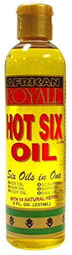 African Pride Hair Oil - African Royale Hot Six Hair Oil, 8 Ounce