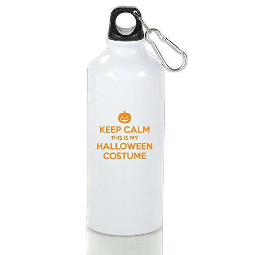 Keep Calm, This Is My Halloween Costume Aluminum Sports Water Bottle, Great For Outdoor And Sport (Super Creative Halloween Costumes For Couples)