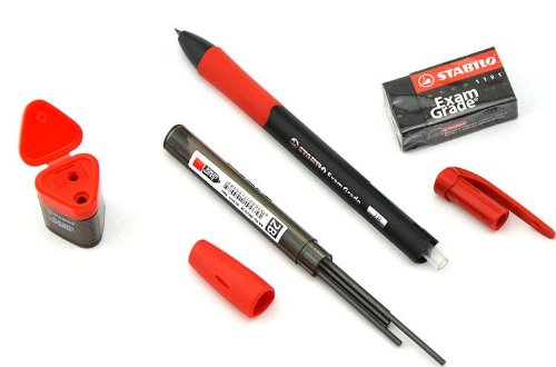 Stabilo Exam Grade Exam Kit, Retractable Pencil with 2b 2.0mm Lead Refill, Eraser, Sharpener by Stabilo (Image #3)