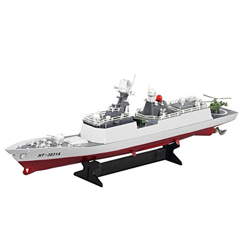 RC Missile Warship Radio Remote Control RTR Ship Battleship Cruiser HT-3831A Electric Remote Control Simulation of Military High Speed Ship Four Channel Model Frigate Model
