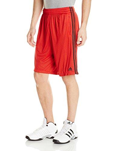 adidas Performance Men's Triple Up 2.0 Shorts, Large, Scarlet/Black/Black