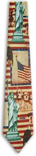 Mens American Flag World Flag NeckTies