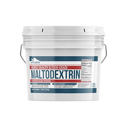 Maltodextrin (1 Gallon (4 lbs.)) by Earthborn Elements, Resealable Bucket, Water Soluble Powder, Complex Carbohydrate, No Artificial Flavors or Colors, Gluten Free, Vegan