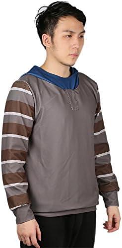 Xcoser Cosplay Kostüm Hoodie Spiel Kapuze pullover Jacke Grau Sweatshirt Polyester Top Mantel Kleidung für Erwachsene Zubehör