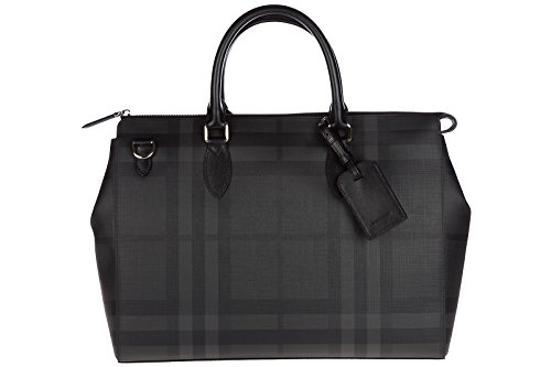 Burberry briefcase attaché case laptop pc bag london check black