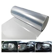 12 by 48 Inches Self Adhesive Headlight, Tail Lights, Fog Lights Tint Vinyl Film (Clear)