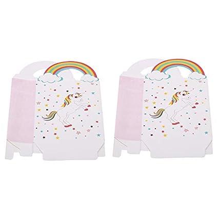 8 x Regenbogen PartytütenPapiertüten bunt  Kindergeburtstag Motto Einhorn