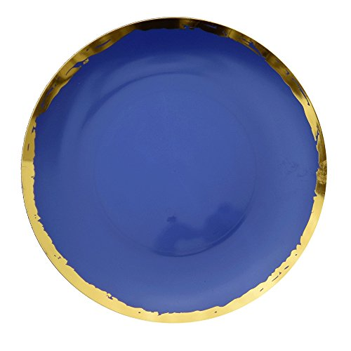 Trendables Premium 10.25 inch. Disposable Plastic Plates, Food Grade Plastic Dinner Plates - Glam Design - 40 Pack (40 Crown Collection)