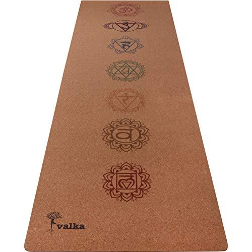 Valka Yoga Cork Yoga Mat (Chakras) (Mat Yoga Cork)