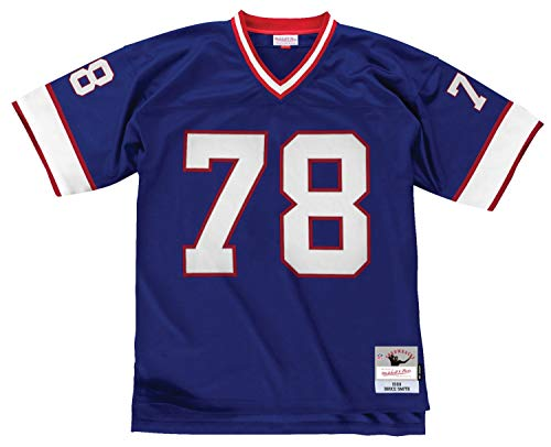 Mitchell & Ness Bruce Smith Buffalo Bills Throwback Jersey Blue (X-Large)