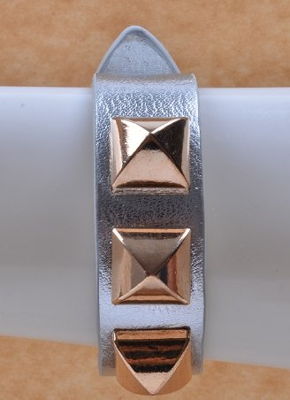 Metallic Pyramid Bracelet, Gift-Boxed