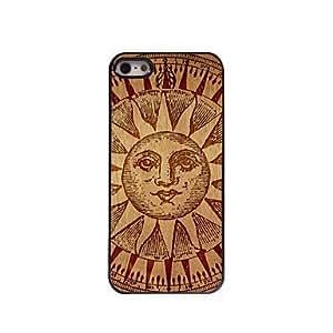 GDW estuche rígido de diseño de madera patrón de madera de aluminio para el iphone 5 / 5s