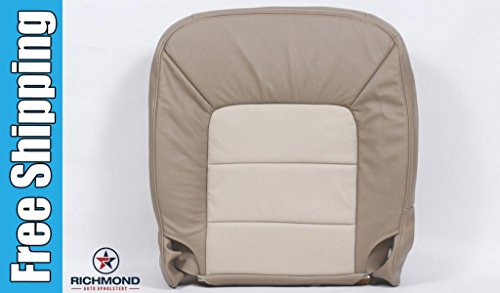 Richmond Auto Upholstery 2003 Ford Expedition Eddie Bauer -Driver Side Bottom Replacement Leather Seat Cover, 2-Tone Tan (Tone Upholstery)