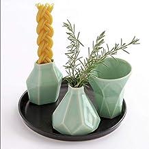 Modern Havdalah Set, Wedding Gift. Geometric Ceramic White Cup, Candleholder, Besamim Spices Holder and Black Plate