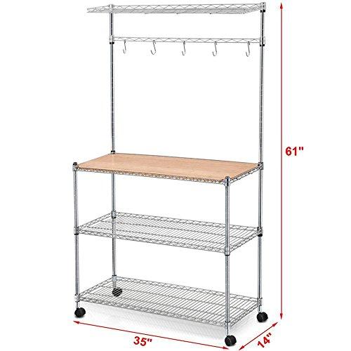 Yaheetech tier adjustable stainless steel kitchen bakers