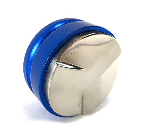 Coffee Distributor Tool - for 58mm Espresso Portafilters - EVENLY DISTRIBUTES COFFEE GROUNDS - Provides Proper Tamping - ADJUSTABLE (58mm, Blue)