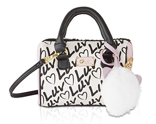 Luv Betsey Johnson Harlli Mini Printed Crossbody Satchel Bag - Pink/Ivory Luv/Heart