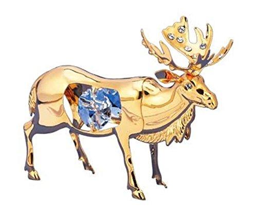 Crystal Temptations 4310 Reindeer 80 mm Reindeer gold plated Swarovski Components Rhinestone lead crystal 24 carat gold - Plated Reindeer Gold