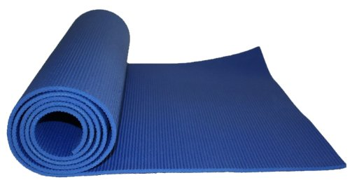 Kabalo - BLUE 173cm long x 61cm wide - EXTRA THICK 6mm - Non-Slip Yoga Mat, also for Exercise / Gym / Camping, etc