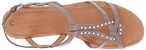 Corso Como Sandale Plate-forme Pour Femme Sandale Taupe En Cuir Brossé