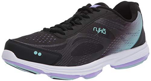Best Ryka Women's Devotion Plus 2 Walking Shoe, Black/Purple, 8.5 M US