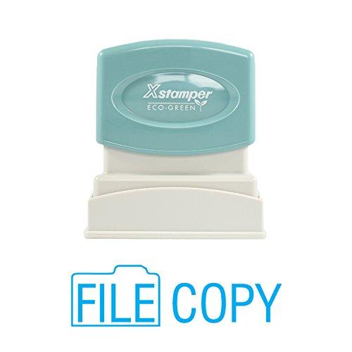 Xstamper Light - Imprint 360 1821 Xstamper File Copy Pre Inked Laser Engraved Rubber Stamp, Impression Size 1/2