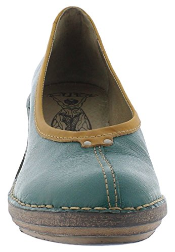 Fly London SABI621FLY, Womens Wedges, NILEGREEN/MUSTARD, 42 EU