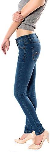 レディース デニム ジーンズ コットン 修身 大きいサイズ スリム タイトパンツ 美脚 パンツ 205-91