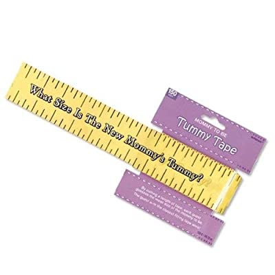 Amscan Games, Tummy Measure Baby Shower Game, Party Supplies, Multicolor, 2in x 150ft   1ct - 382381: Kitchen & Dining