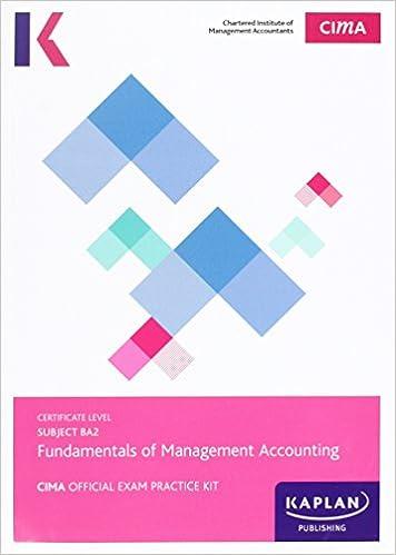 Buy CIMA BA2 Fundamentals of Management Accounting - Exam Practice