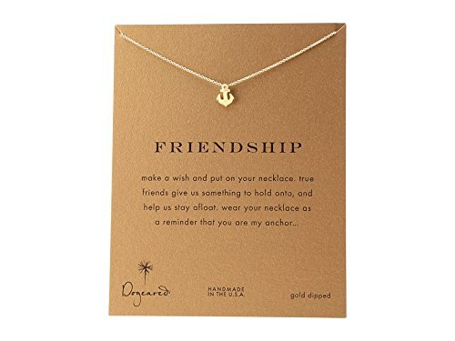 Dogeared Women's Friendship Anchor Reminder Necklace Gold One Size